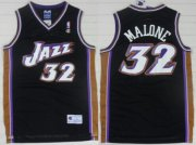Wholesale Cheap Utah Jazz #32 Karl Malone Black Swingman Throwback Jersey
