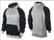 Wholesale Cheap New York Yankees Pullover Hoodie Dark Grey & Black