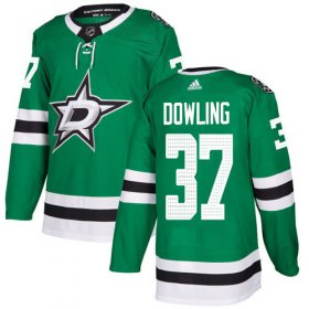 Cheap Adidas Stars #37 Justin Dowling Green Home Authentic Stitched NHL Jersey
