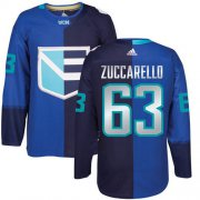Wholesale Cheap Team Europe Hockey #63 Mats Zuccarello Blue 2016 World Cup Stitched NHL Jersey