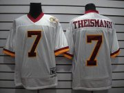 Wholesale Cheap Mitchell and Ness Redskins #7 Joe Theismann White With 50TH Anniversary Stitched NFL Jersey
