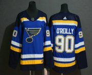 Wholesale Cheap Youth St. Louis Blues #90 Ryan O'Reilly Blue Adidas Stitched NHL Jersey