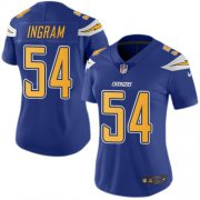 Wholesale Cheap Nike Chargers #54 Melvin Ingram Electric Blue Women's Stitched NFL Limited Rush Jersey