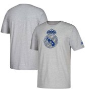 Wholesale Cheap Real Madrid adidas Brushed Stripes T-Shirt Heathered Gray