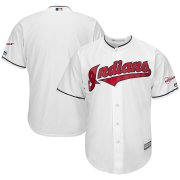 Wholesale Cheap Cleveland Indians Blank Majestic Home 2019 All-Star Game Patch Cool Base Team Jersey White