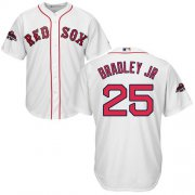 Wholesale Cheap Red Sox #25 Jackie Bradley Jr White Cool Base 2018 World Series Stitched Youth MLB Jersey