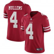 Wholesale Cheap Nike 49ers #4 Nick Mullens Red Team Color Men's Stitched NFL Vapor Untouchable Limited Jersey
