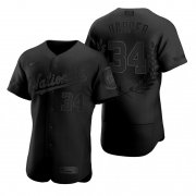 Wholesale Cheap Washington Nationals #34 Bryce Harper Men's Nike Black MLB MVP Limited Player Edition Jersey