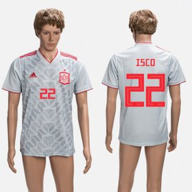Wholesale Cheap Spain #22 Isco Grey Training Soccer Country Jersey