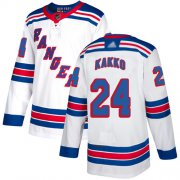 Wholesale Cheap Adidas Rangers #24 Kaapo Kakko White Road Authentic Stitched NHL Jersey