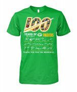 Wholesale Cheap Green Bay Packers 100 Seasons Memories T-Shirt Green