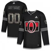 Wholesale Cheap Men's Adidas Senators Personalized Authentic Black Classic NHL Jersey