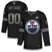 Wholesale Cheap Men's Adidas Oilers Personalized Authentic Black Classic NHL Jersey