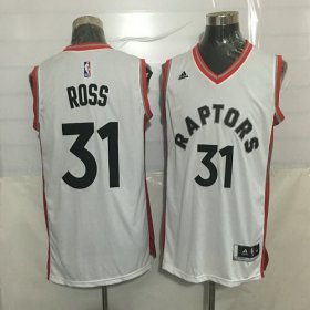 Wholesale Cheap Men\'s Toronto Raptors #31 Terrence Ross White New NBA Rev 30 Swingman Jersey