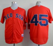 Wholesale Cheap Red Sox #45 Pedro Martinez Red Cool Base Stitched MLB Jersey
