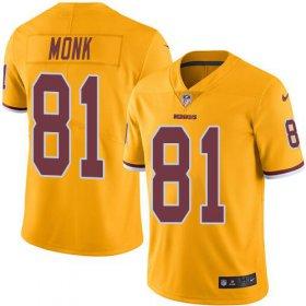 Wholesale Cheap Nike Redskins #81 Art Monk Gold Men\'s Stitched NFL Limited Rush Jersey
