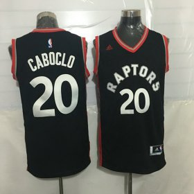 Wholesale Cheap Men\'s Toronto Raptors #20 Bruno Caboclo Black With Red New NBA Rev 30 Swingman Jersey