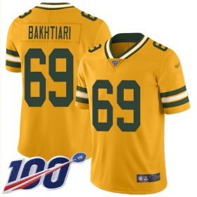 Wholesale Cheap Nike Packers #69 David Bakhtiari Gold Men\'s Stitched NFL Limited Inverted Legend 100th Season Jersey