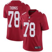 Wholesale Cheap Nike Giants #78 Andrew Thomas Red Men's Stitched NFL Limited Inverted Legend Jersey