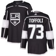 Wholesale Cheap Adidas Kings #73 Tyler Toffoli Black Home Authentic Stitched NHL Jersey
