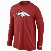 Wholesale Cheap Nike Denver Broncos Logo Long Sleeve T-Shirt Red