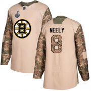 Wholesale Cheap Adidas Bruins #8 Cam Neely Camo Authentic 2017 Veterans Day Stanley Cup Final Bound Stitched NHL Jersey