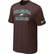 Wholesale Cheap Nike NFL Philadelphia Eagles Heart & Soul NFL T-Shirt Brown