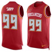 Wholesale Cheap Nike Buccaneers #99 Warren Sapp Red Team Color Men's Stitched NFL Limited Tank Top Jersey