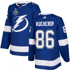 Wholesale Cheap Adidas Lightning #86 Nikita Kucherov Blue Home Authentic 2020 Stanley Cup Final Stitched NHL Jersey