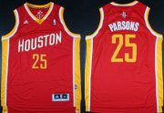 Wholesale Cheap Houston Rockets #25 Chandler Parsons Revolution 30 Swingman Red With Gold Jersey