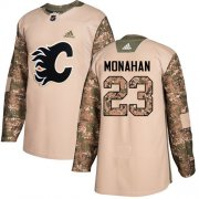 Wholesale Cheap Adidas Flames #23 Sean Monahan Camo Authentic 2017 Veterans Day Stitched NHL Jersey