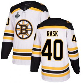 Wholesale Cheap Adidas Bruins #40 Tuukka Rask White Road Authentic Stanley Cup Final Bound Stitched NHL Jersey