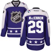 Wholesale Cheap Avalanche #29 Nathan MacKinnon Purple 2017 All-Star Central Division Stitched NHL Jersey