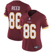 Wholesale Cheap Nike Redskins #86 Jordan Reed Burgundy Red Team Color Women's Stitched NFL Vapor Untouchable Limited Jersey