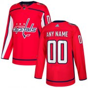 Wholesale Cheap Men's Adidas Capitals Personalized Authentic Red Home NHL Jersey