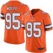 Wholesale Cheap Nike Broncos #95 Derek Wolfe Orange Youth Stitched NFL Limited Rush Jersey