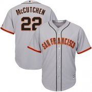 Wholesale Cheap Giants #22 Andrew McCutchen Grey New Cool Base Road Stitched MLB Jersey