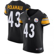 Wholesale Cheap Nike Steelers #43 Troy Polamalu Black Team Color Men's Stitched NFL Vapor Untouchable Elite Jersey