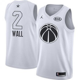 Wholesale Cheap Nike Wizards #2 John Wall White NBA Jordan Swingman 2018 All-Star Game Jersey