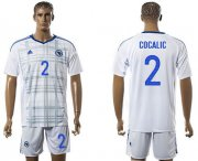 Wholesale Cheap Bosnia Herzegovina #2 Cocalic Away Soccer Country Jersey