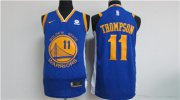 Wholesale Cheap Nike Golden State Warriors #11 Klay Thompson Blue 2017-18 Stitched NBA Jersey