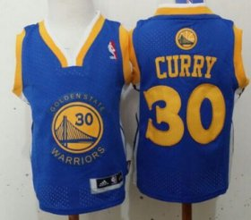 Cheap Golden State Warriors #30 Stephen Curry Blue Toddlers Jersey