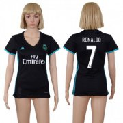 Wholesale Cheap Women's Real Madrid #7 Ronaldo Away Soccer Club Jersey