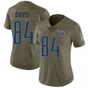 Wholesale Cheap Nike Titans #84 Corey Davis Olive Women's Stitched NFL Limited 2017 Salute to Service Jersey