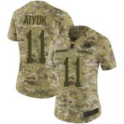 Wholesale Cheap Nike 49ers #11 Brandon Aiyuk Camo Women's Stitched NFL Limited 2018 Salute To Service Jersey