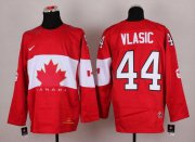 Wholesale Cheap Olympic 2014 CA. #44 Marc-Edouard Vlasic Red Stitched NHL Jersey