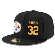 Wholesale Cheap Pittsburgh Steelers #32 Franco Harris Snapback Cap NFL Player Black with Gold Number Stitched Hat