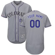 Wholesale Cheap Colorado Rockies Majestic Alternate Flex Base Authentic Collection Custom Jersey Gray