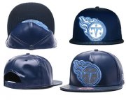 Wholesale Cheap NFL Tennessee Titans Team Logo Navy Reflective Snapback Adjustable Hat G456