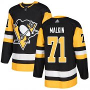Wholesale Cheap Adidas Penguins #71 Evgeni Malkin Black Home Authentic Stitched Youth NHL Jersey